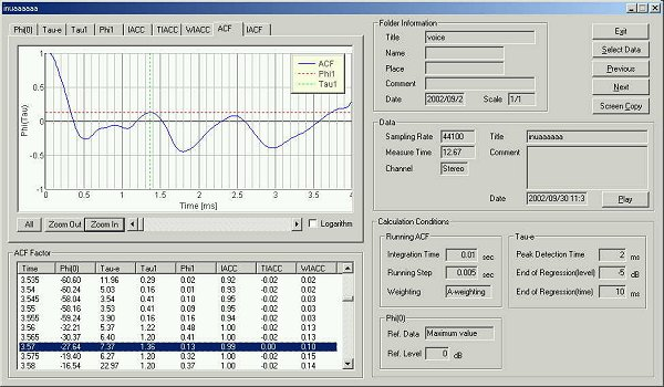 YMEC software - Analysis of Japanese voice 4 (Simple Sound